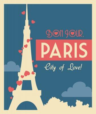 Obraz Paris projektowania, ilustracji wektorowych.