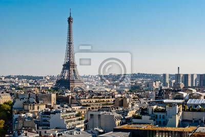 Paris Tour Eiffel widok z Łuku Triumfalnego