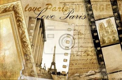 Paris wspomnienia - artistic clip -art