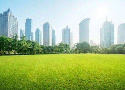 Obraz park in lujiazui financial centre, Shanghai, China