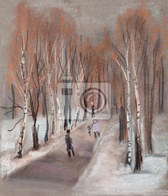 Obraz Park w zimie