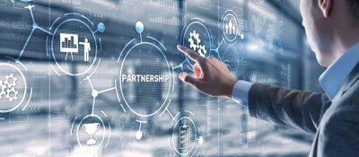 Obraz Partnership of companies. Collaboration. Business Technology Internet concept