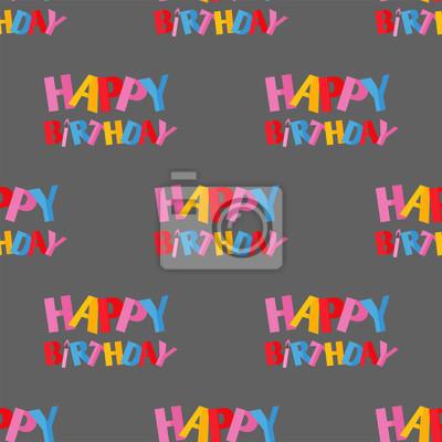 Obraz Tekst życzenia Urodzinowe Ręcznie Liternictwo Ręcznie