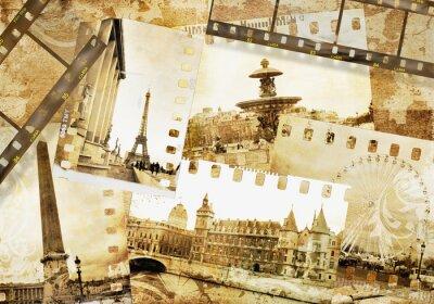 Obraz Paryskie wspomnienia - old photo -album
