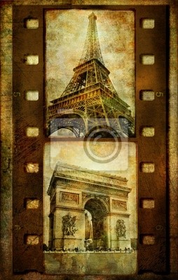 Paryskie zdjęcia - vihtage przezroczy