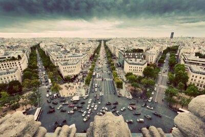 Obraz Paryż, Francja ruchliwe ulice, Avenue des Champs-Élysées. Zabytkowe