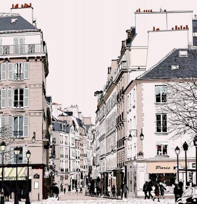 Obraz Paryż - Ulica w Saint Germain