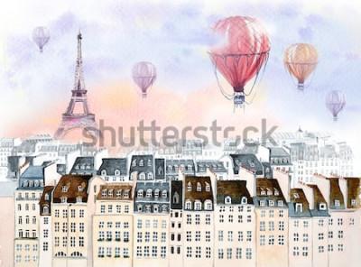 Obraz Paryż z balonem