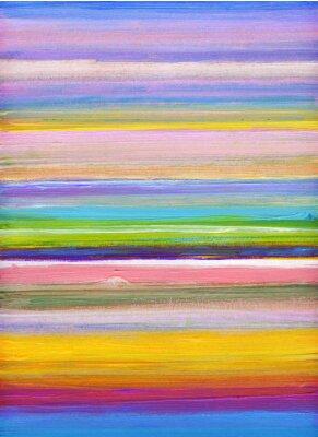 Obraz paski kolorowe ręcznie malowane