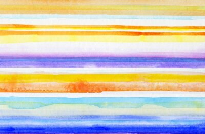 Obraz paski ręcznie malowane akwarela