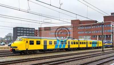 Passenger train at Amersfoort station in the Netherlands