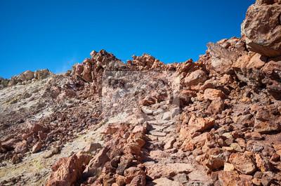 Path to the Mount Teide summit, Tenerife, Spain.