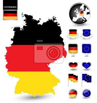 Patriotyzm zestaw symbolem Niemczech
