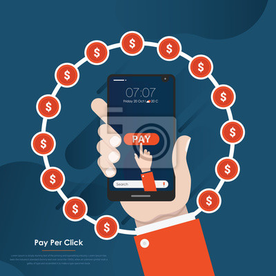 Pay per click concept for your design