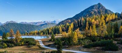 Obraz Peaceful autumn Alps mountain view. Reiteralm, Steiermark, Austria.