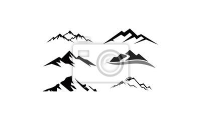 Obraz peak logo mountain icon