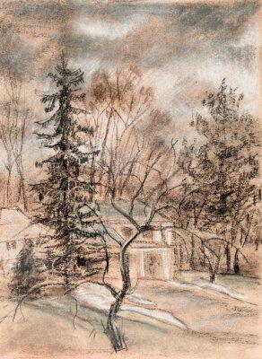 Obraz Pejzaż z domu.