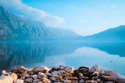 Obraz Pejzaż z wizerunkiem morze i góry