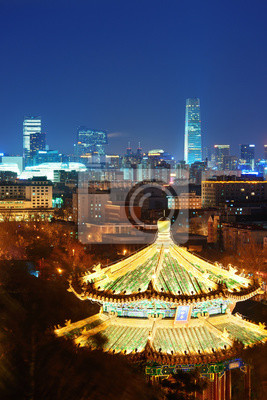 Pekin w nocy