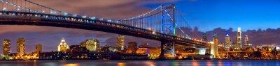 Obraz Philadelphia skyline panorama o zmierzchu, USA