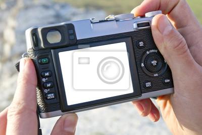 Photocamera w ręce