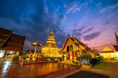 Phrathat Hariphunchai Temple in Lamphun Province