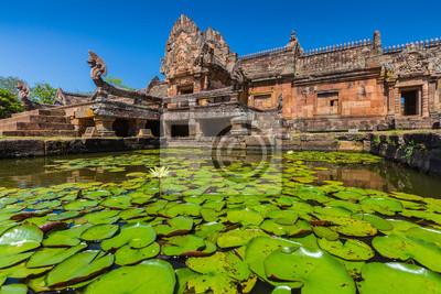 piasek, kamień, zamek, Phanomrung w prowincji Buriram