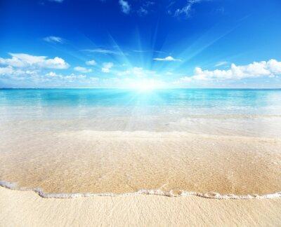 Piasek z plaży morze karaibskie