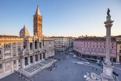 Obraz Piazza Santa Maria Maggiore w Rzymie, Włochy.