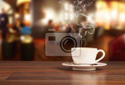 Obraz Pić kawę w kawiarni