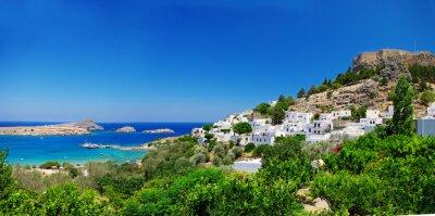 Pictorial grecka wyspa - Rodos ( Lindos )