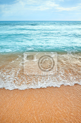 Picture of an empty beach.