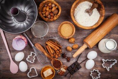 Obraz Pieczenia naczynia i składniki