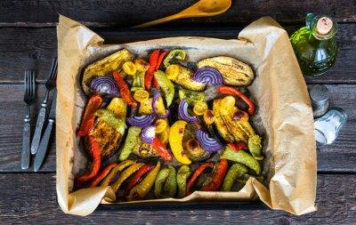 Obraz Pieczone warzywa na blasze