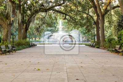 Obraz Piękna fontanna Zgodnie z hiszpańskim Moss