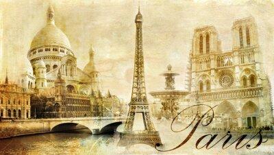 Obraz Piękna Paris - vintage karta pocztowa
