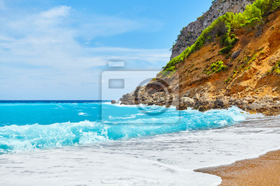 Piękna pusta plaża na Mallorca, Hiszpania.