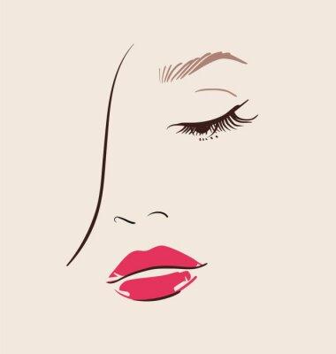 Obraz Piękna twarz kobiety