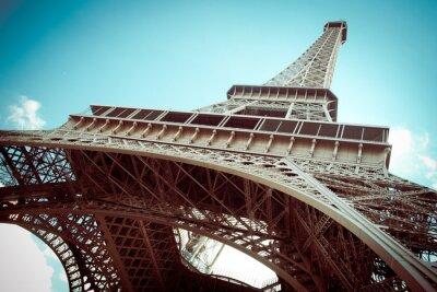 Obraz Piękna Wieża Eiffla w Paryżu, Francja z tonu retro efekt filtra