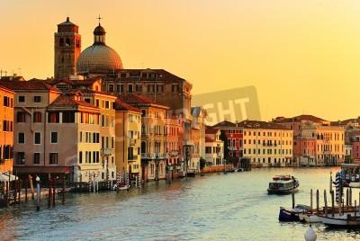 Obraz Piękna woda ulicy - Canal Grande w Wenecji, Włochy