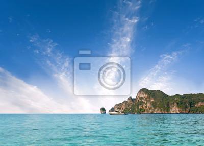 Piękna wyspa, wakacje w tle.
