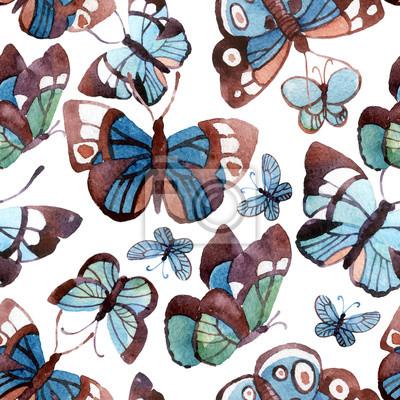 Piękne Akwarele motyle