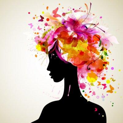 Obraz Piękne kobiety z abstrakcyjnych elementów projektu włosów i