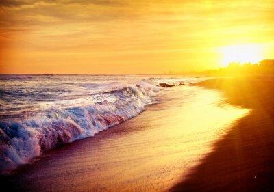 Obraz Piękne Morze Sunset Beach. Morze Śródziemne. Spai