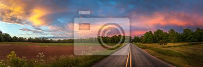 Obraz Piękne niebo z drogi krajowej