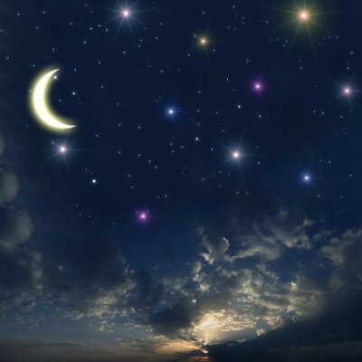 Obraz Piękne nocne niebo z wielu gwiazd