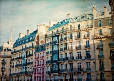 Obraz piękne paryskie ulice słońce zobaczyć Paryż, Francja Europa