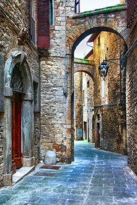 piękne stare ulice włoskich miast średniowiecznych, Tody