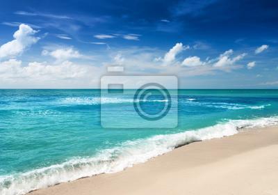 Obraz Piękne tropikalne morze i błękitne niebo