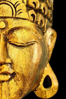 Obraz Piękny Golden Buddha Mask Tło Czarny